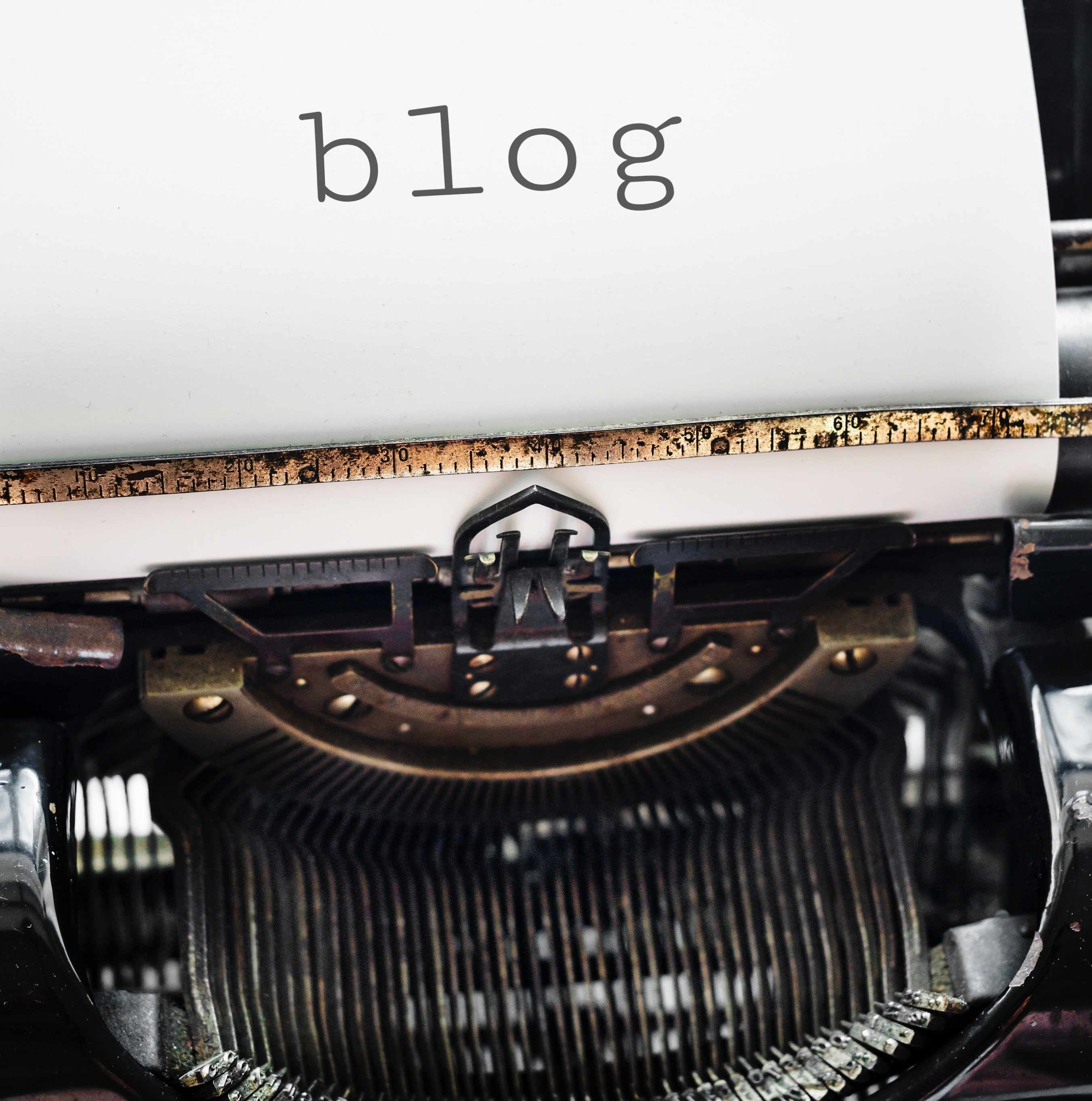 Typewriter writing blog