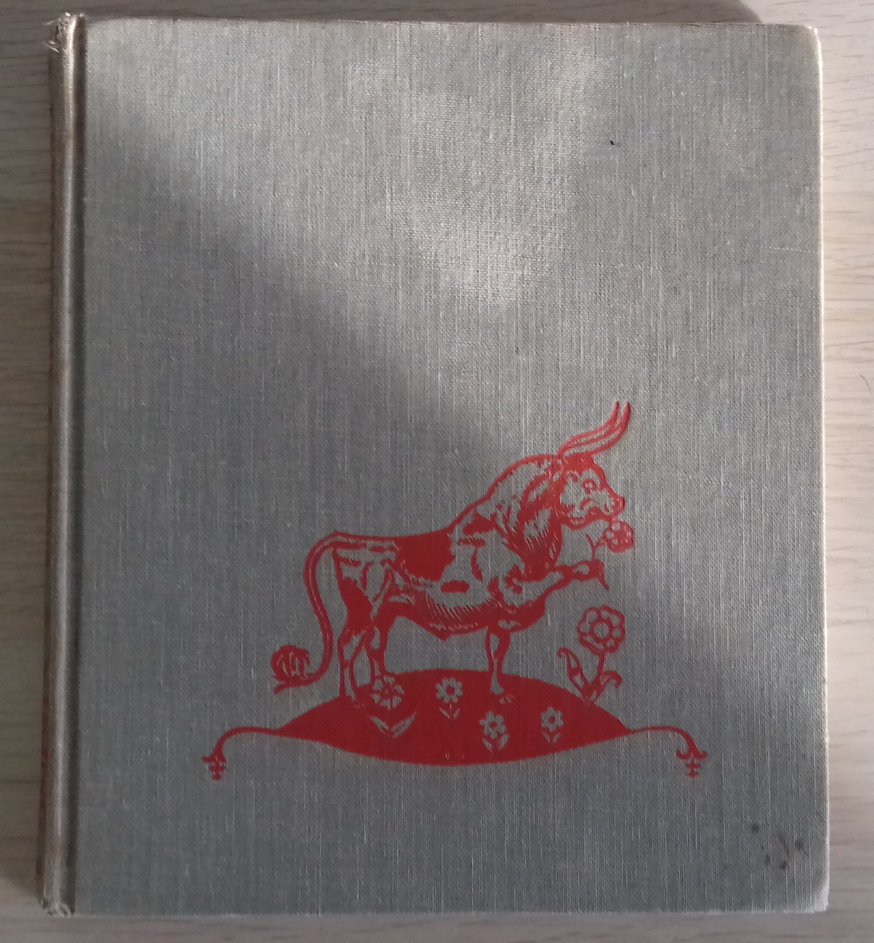 My linen-bound copy original of Ferdinand the BUll by Munro Leaf