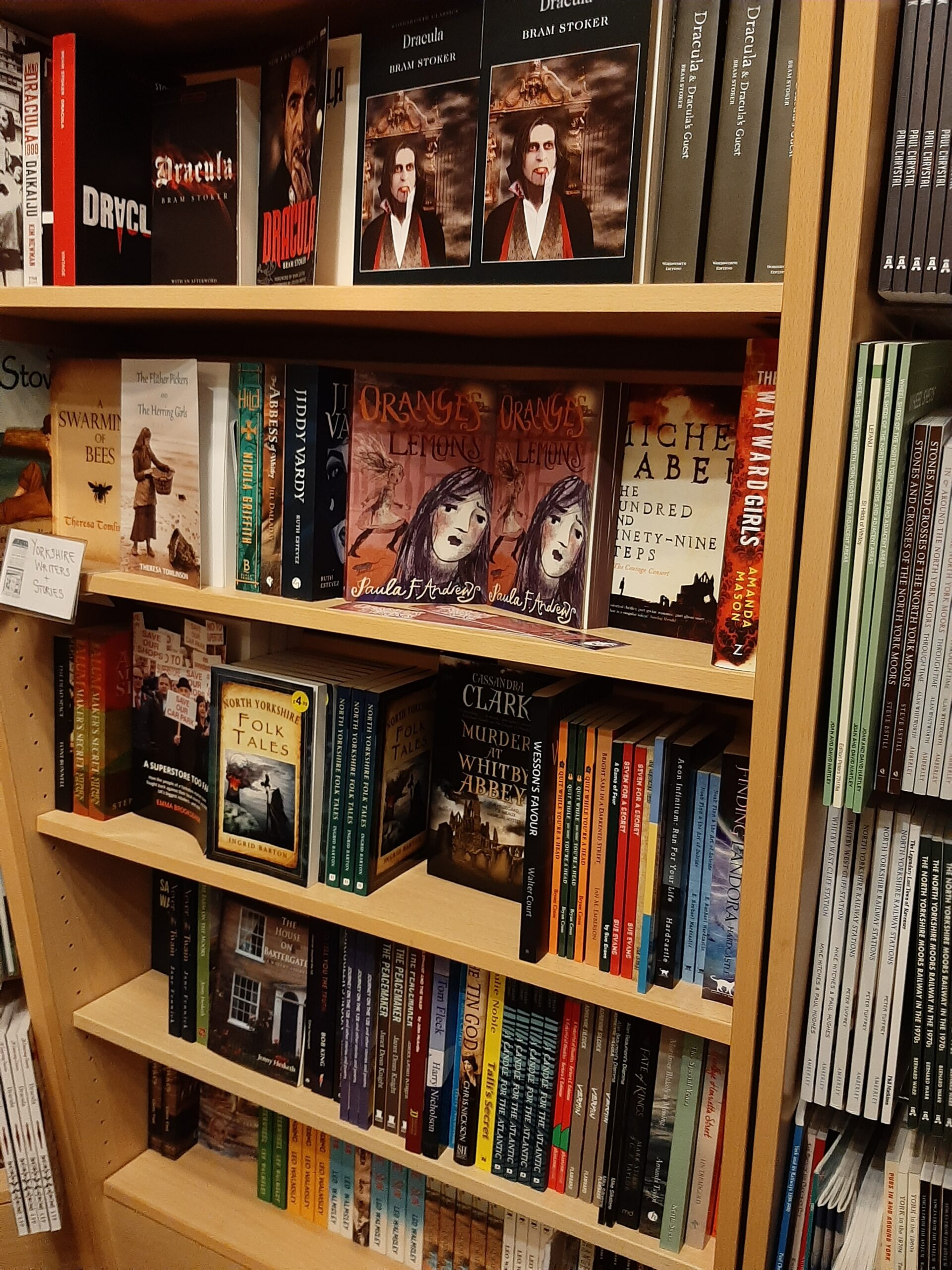 My book in the Gothic section of The Whitby Bookshop