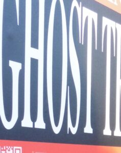part of a ghost walk sign